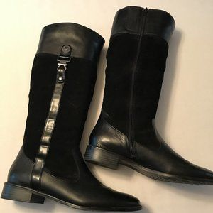 Anne Klein tall leather and suede boots, 9 1/2 M